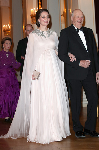 Кейт Миддлтон и король Харальд V