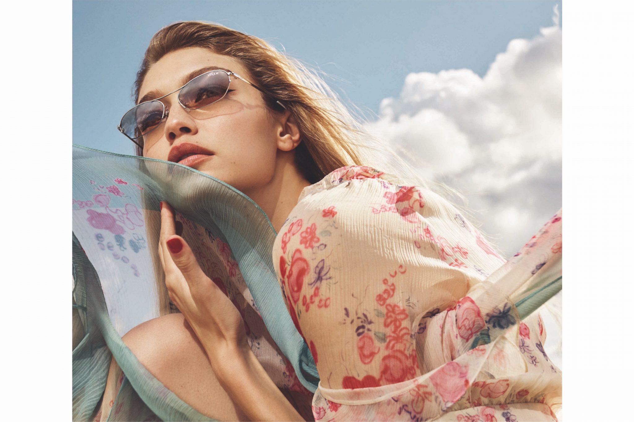 Джиджи Хадид в рекламной кампании «Vogue Eyewear»