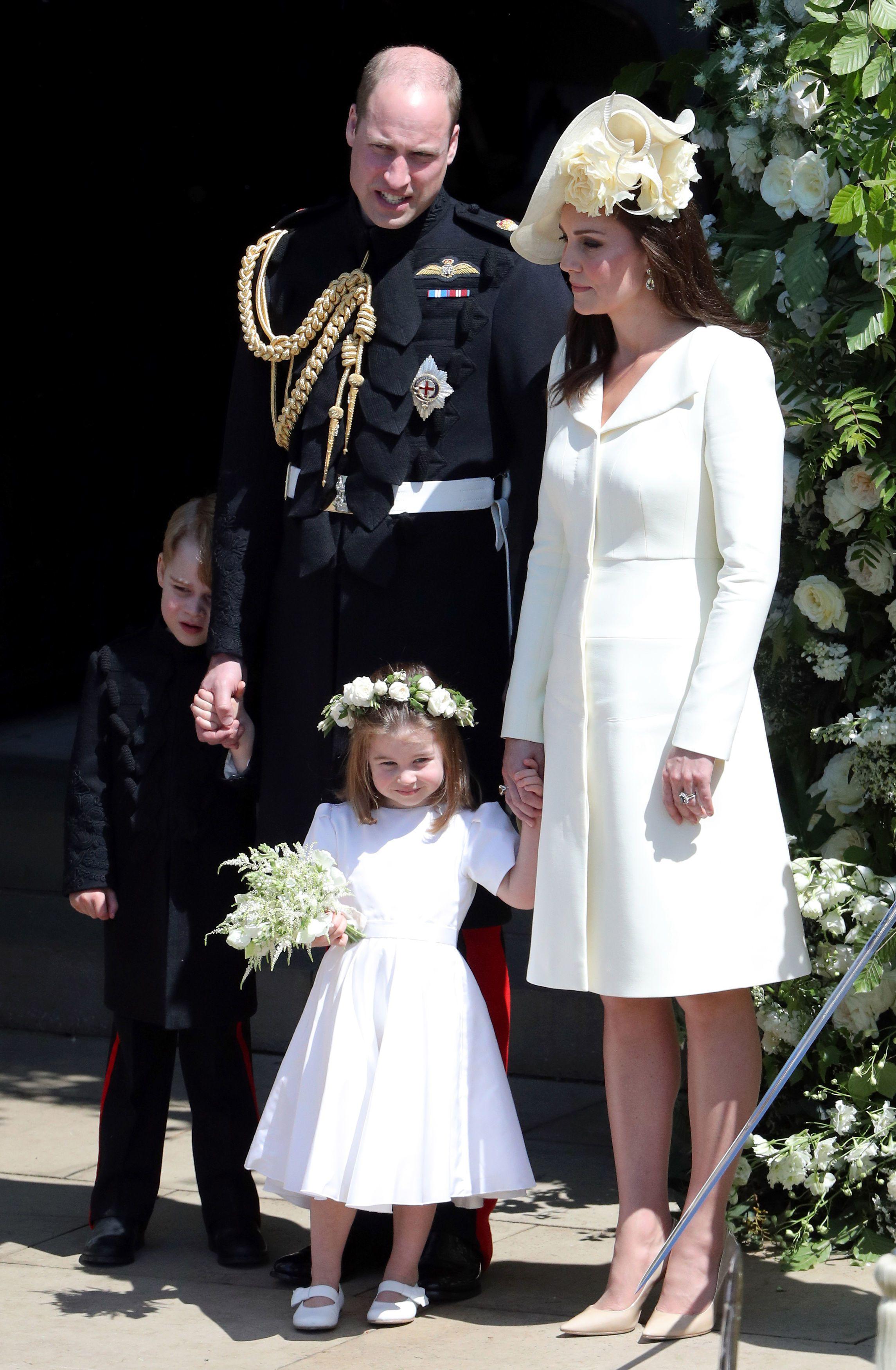 Герцог и герцогиня Кембриджские на свадьбе принца Гарри и Меган Маркл