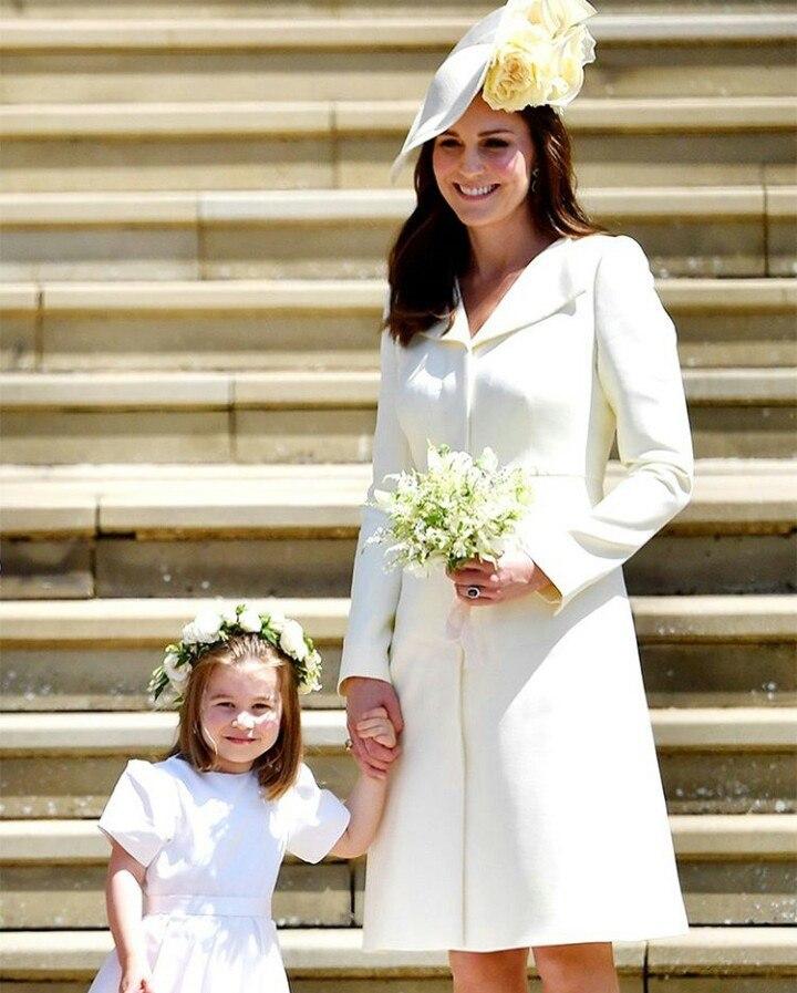 Кейт Миддлтон с дочерью на свадьбе принца Гарри и Меган Маркл