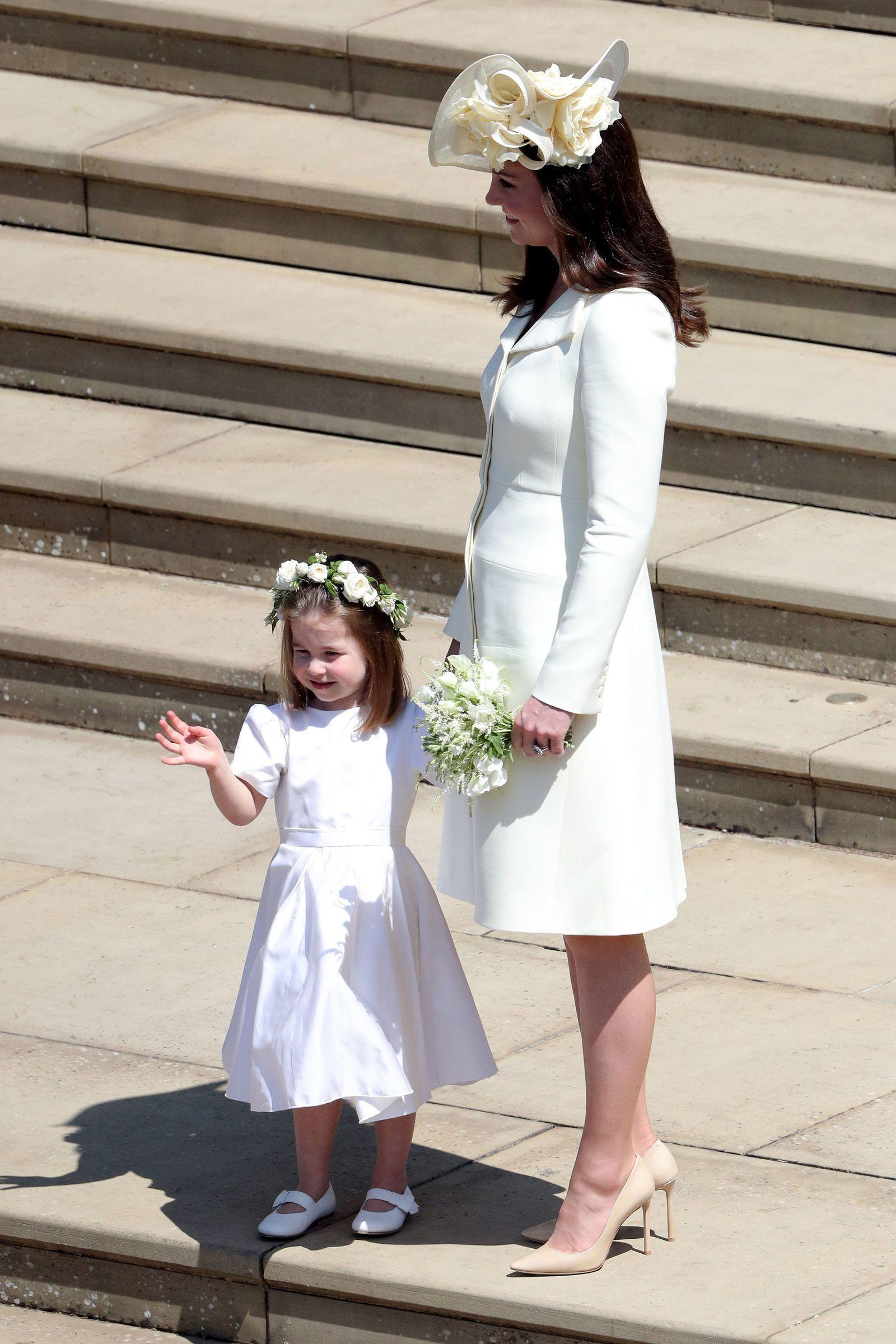 Кейт и Шарлотта на свадьбе Гарри и Меган