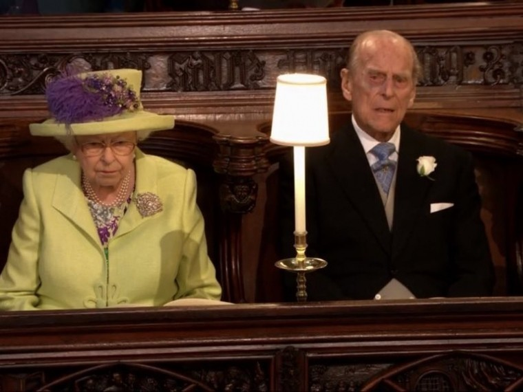 Королева Елизавета II на свадьбе принца Гарри и Меган Маркл