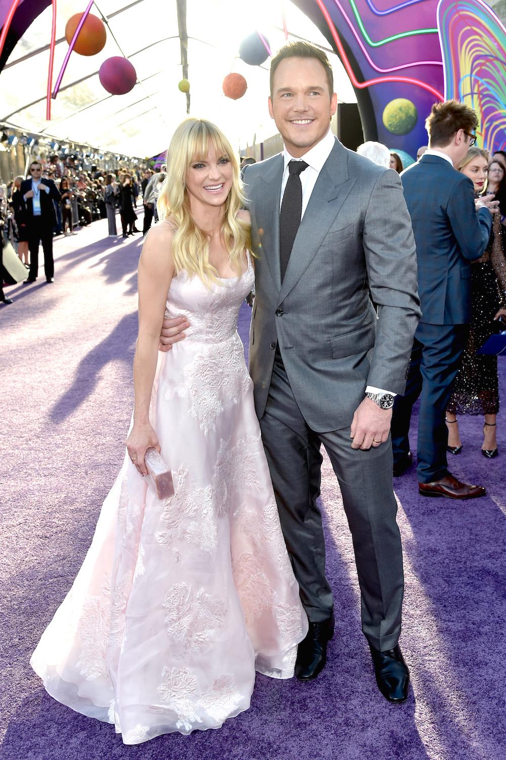 Крис Прэтт с бывшей супругой Анной Фэрис