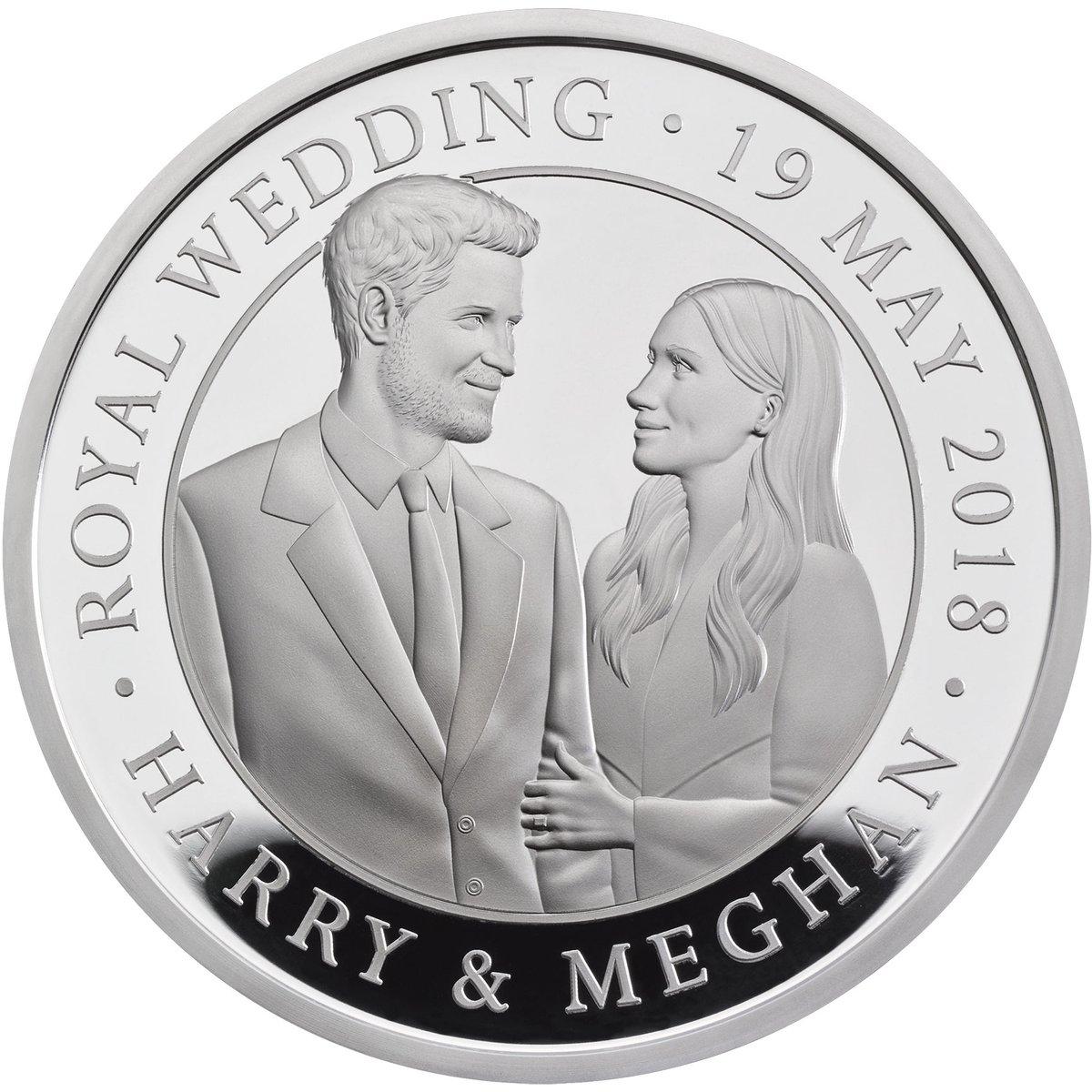 Монета к королевской свадьбе 19.05.2018
