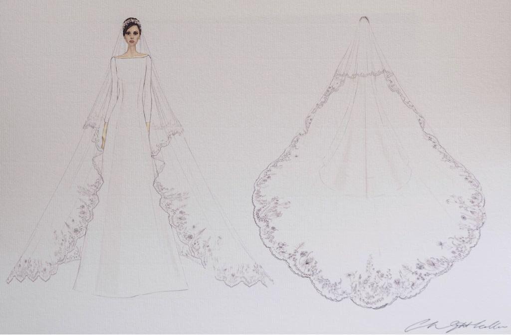 Эскиз платья Меган