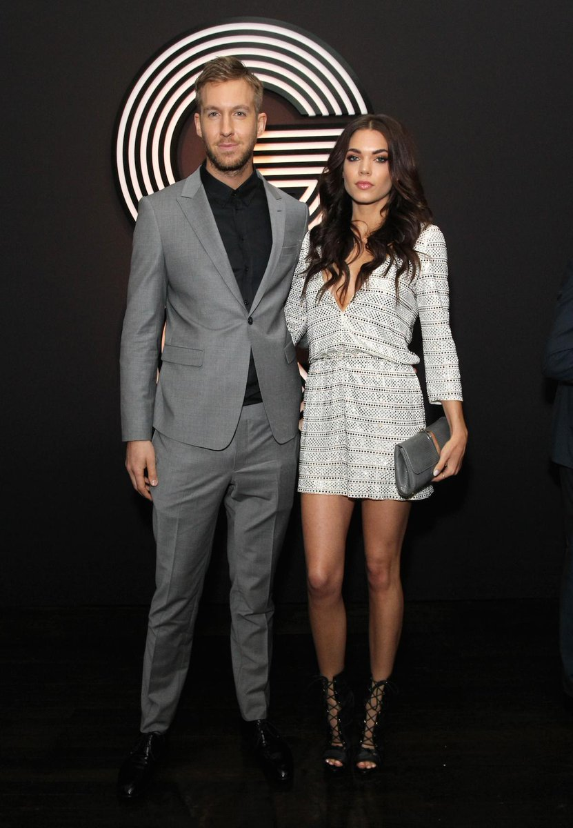 Calvin Harris and Aarika Wolf